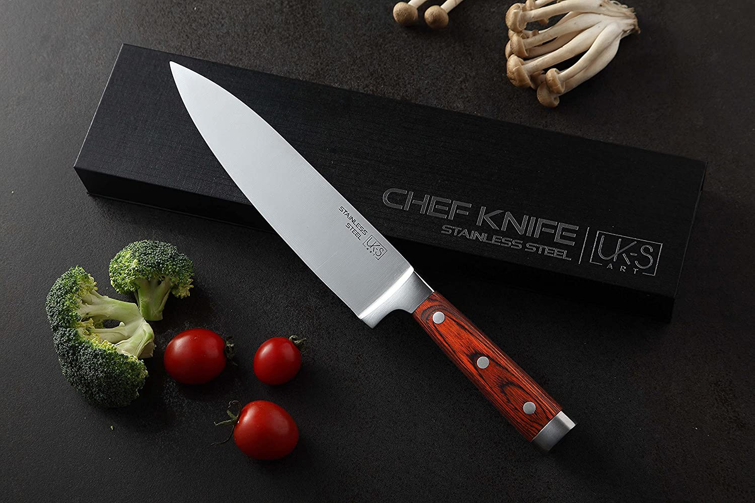 Küchenmesser Profi 20 cm UK-S Art Premium Chef-Messer Ultrascharfe ...