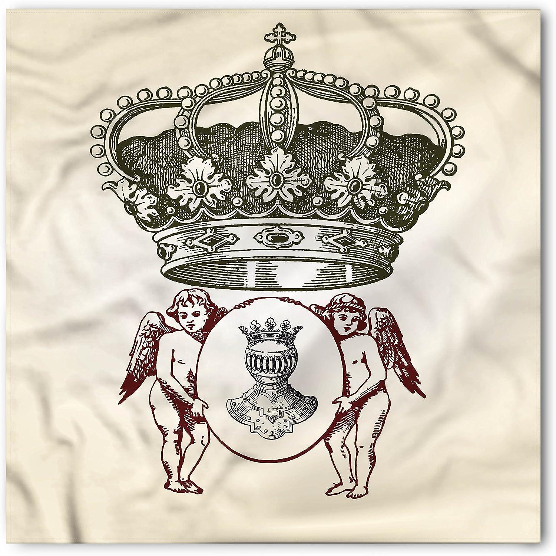 Lunarable Medieval Bandana, Royal Antique Crest, Unisex Head and Neck Tie