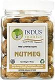 Indus Organics Nutmeg Whole, 1 Lb Jar, Premium Jumbo Grade, Freshly Packed