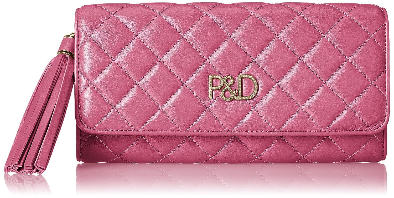 [ピンキーアンドダイアン] 長財布 【ドンナ】キルティング P&Dロゴ金具 タッセル飾り付 PDLW7LT2 B077SGPTND ピンク ピンク