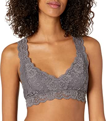 Amazon Brand - Mae Women's Racerback Lace Plunge Bralette (for A-C cups)