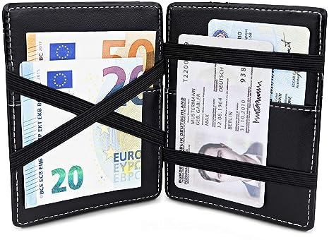 TRAVANDO ® Magic Wallet monedero VEGAS Wallet Hombre pequeña cartera Slim Wallet Mini Wallet estuche delgado
