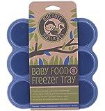 Vassoio In Silicone Per Alimenti Neonati Sicuro & Facile da Utilizzare! | Lo Stampo Per Alimenti Da Congelatore Con un Coperchio di Silicone con Chiusura a Clip | 2 Colori Disponibili | Senza BPA & Approvato dalla FDA …