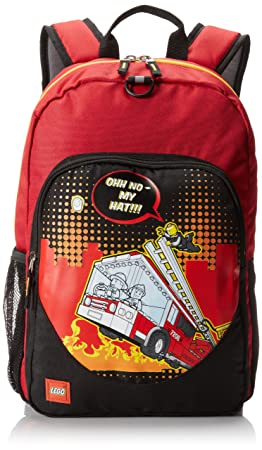 LEGO City Nights Backpack, Red, One Size