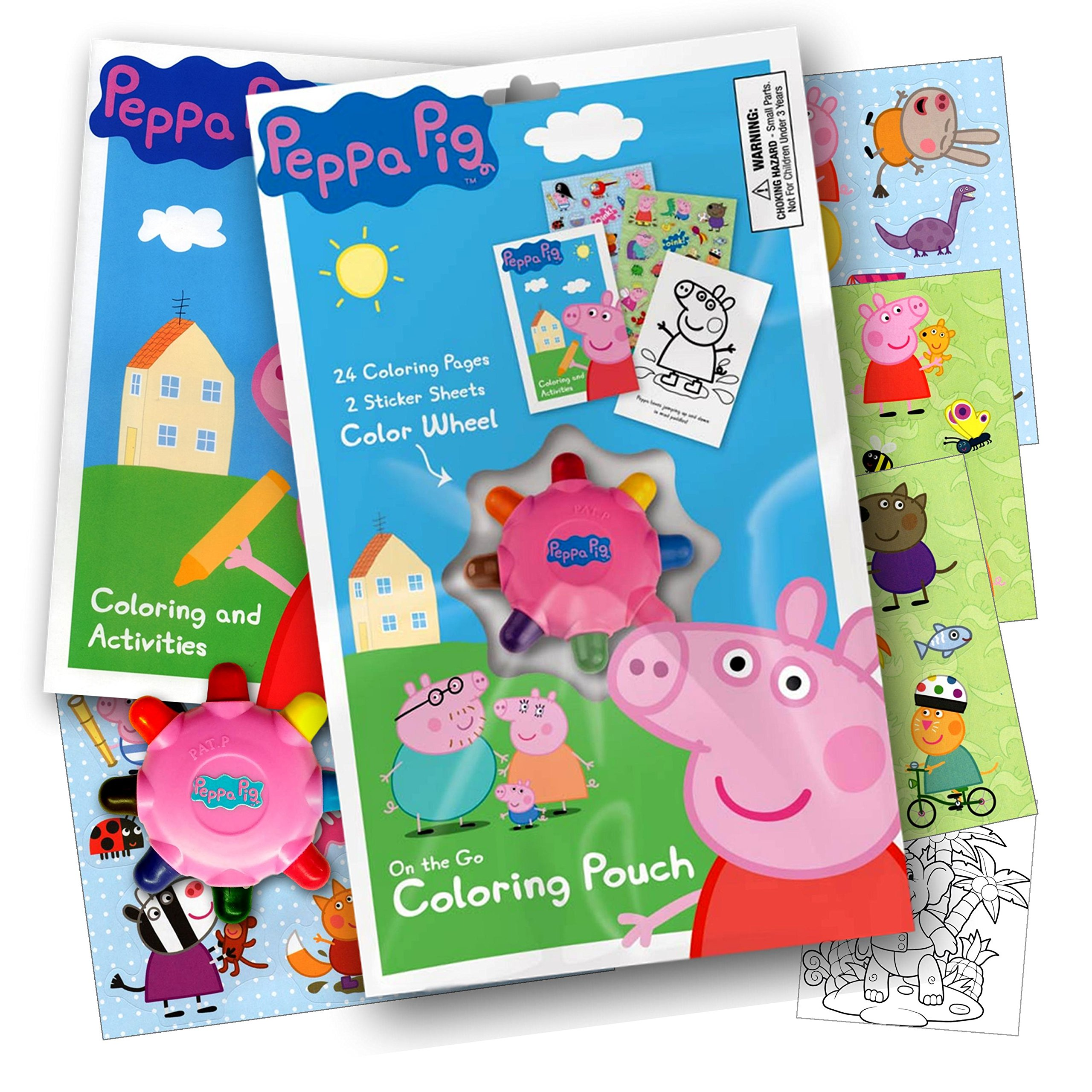 Peppa Pig On the Go Coloring Pouch Activity Set With Stickers C ...