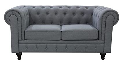 amazon com us pride furniture s5070 l linen fabric chesterfield rh amazon com chesterfield sofa linen linen chesterfield sofa australia
