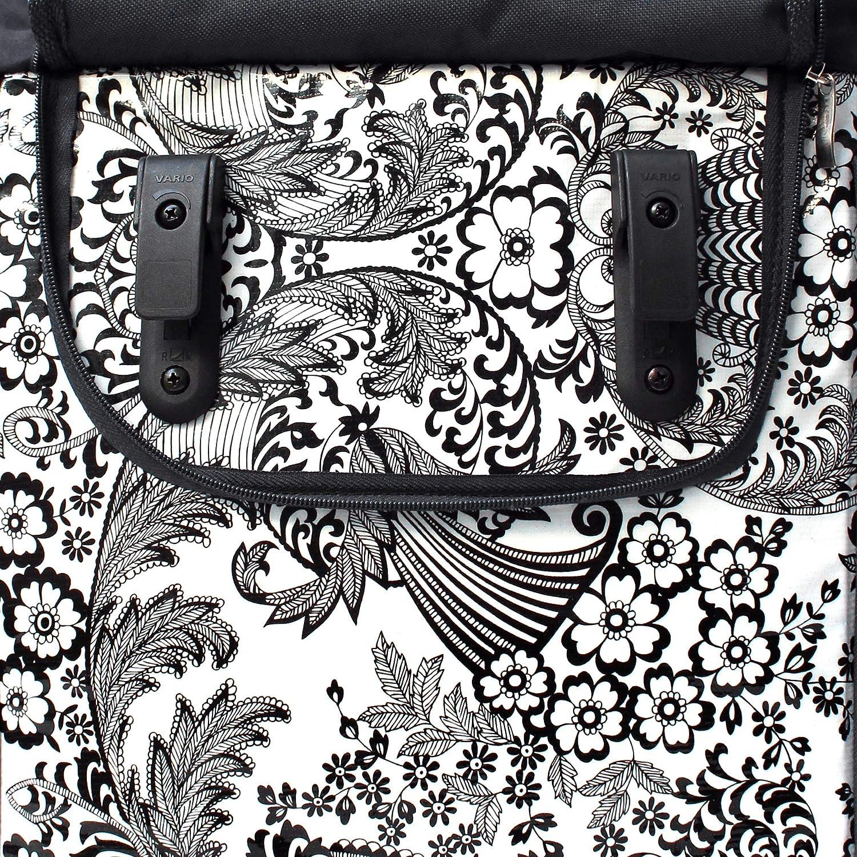 Design Eden blanc Pour Femme IKURI Sacoche V/élo Pour Porte-Bagage Sac De Velo En Toile Cir/ée Avec Bandouli/ère Amovible Impermeable