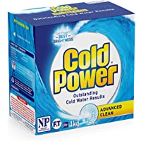 Cold Power Advanced Clean, Powder Laundry Detergent, 1kg, Suitable for Front and Top Loaders