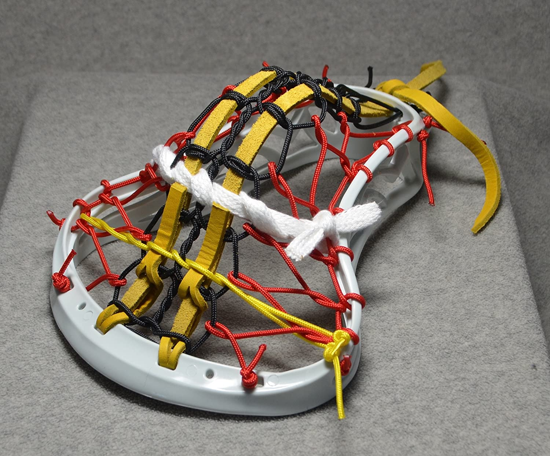 Turtle Power Inspired by Maryland u. BlackfeetラクロスMini Stick従来Strung PitaポケットホワイトLeathers – エスプレッソ仕上げホワイトヘッドwithハンドル   B073JVRL2N