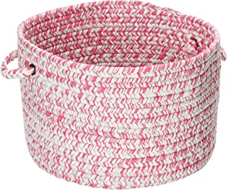 "product image for Colonial Mills Catalina CA09A014X010 Utility Basket, 14"" x 14"" x 10"", Magenta"