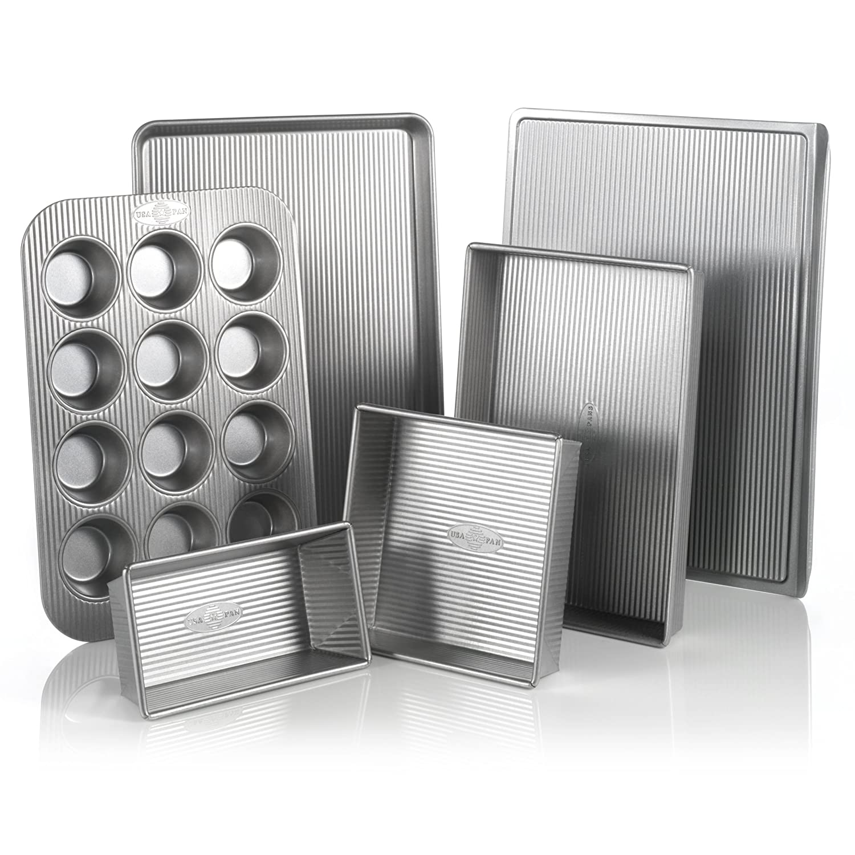 USA Pan 3-Piece Warp Resistant Non-Stick Aluminized Steel Bakeware Set 1310ST