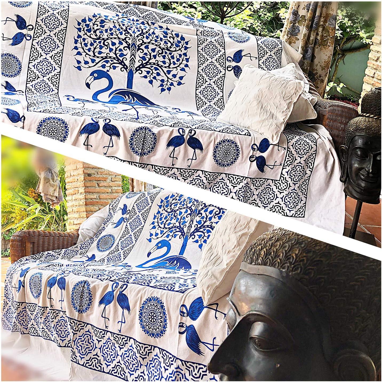 Telo mare Picnic Applicazioni multiple: Copriletto Foulard Tovaglia Copridivano Arazzi indiani di Decor Arazzo Mandala in tessuto 100/% cotone 210X240 da appendere a parete Grande taglia Pareo