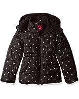 Pink Platinum Girls' Printed Foil Star Puffer Jacket