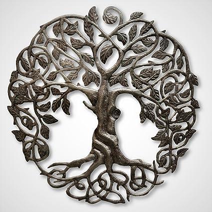 Amazon.com: it\'s cactus - metal art haiti Family Roots Tree of Life ...