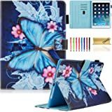 New iPad 9.7 inch 2017 Case / iPad Air Case / iPad Air 2 Case, Dteck Folio Smart Cover [Auto Sleep Wake] Shockproof Stand Wallet Case for New iPad 9.7 Inch 2017,iPad Air 1 2, Blue Butterfly