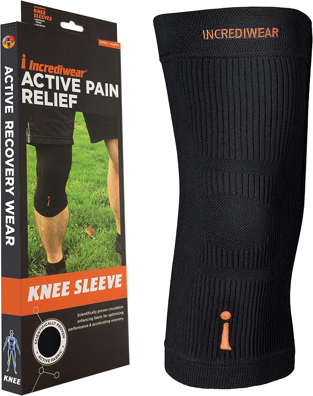 Incrediwear Knee Sleeve, X-Large, Black
