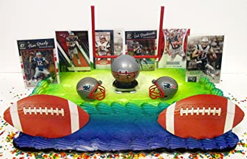 Amazoncom NEW ENGLAND PATRIOTS Team Themed Football Birthday Cake