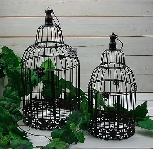 Moritz® Deko Jaula portavelas Jaula Maceta Decorativa pájaro Jaula ...