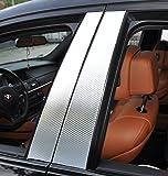 6x carbone porte chrome panneau de garnissage B pilier pilier de porte adapté à votre véhicule