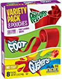 Betty Crocker Fruit Snacks, Fruit Roll-Ups, Fruit by the Foot and Fruit Gushers, Variety Snack Pack, 8 Pouches