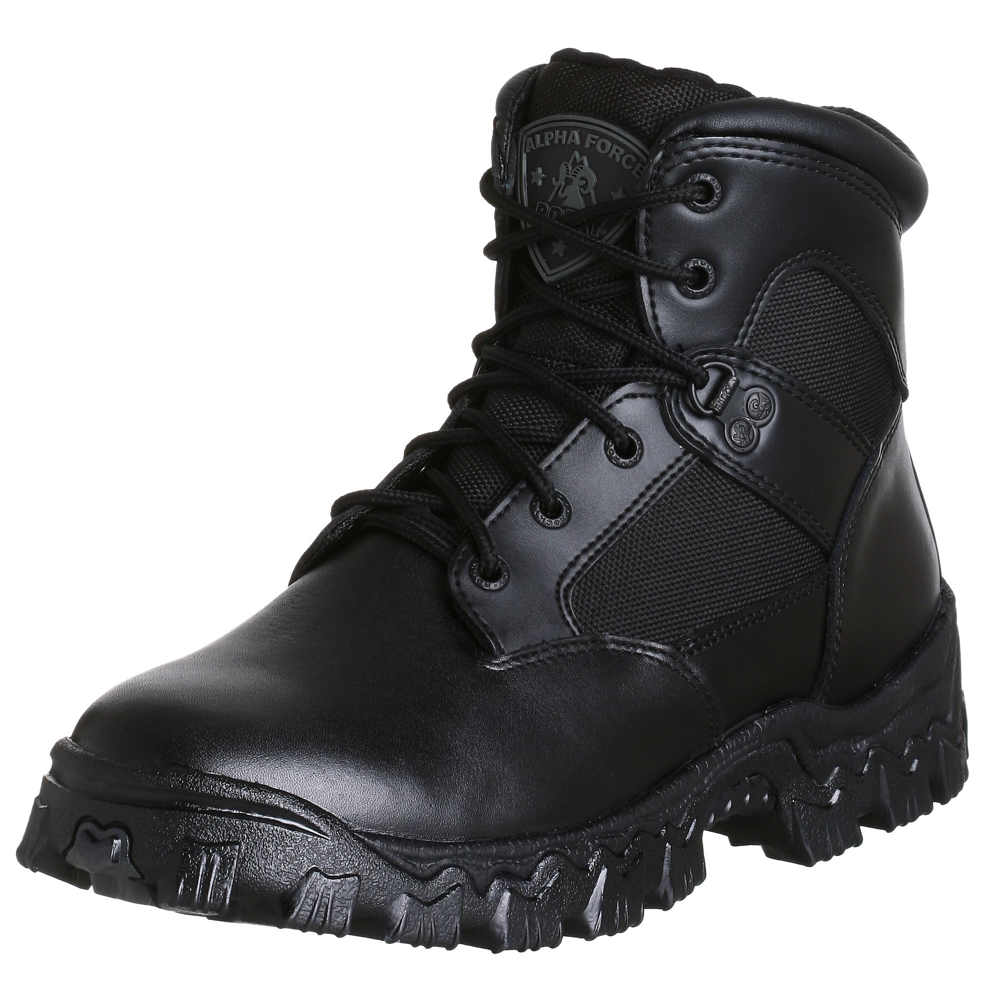 Rocky Duty Men's Alpha Force 6'' Swat Boot,Black,12 W