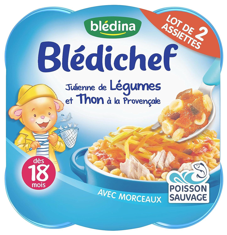 Blédina Blédichef Julienne de Légumes et Thon à la provencale dès 18 mois 2 x 260 g Blédina 3041090689482