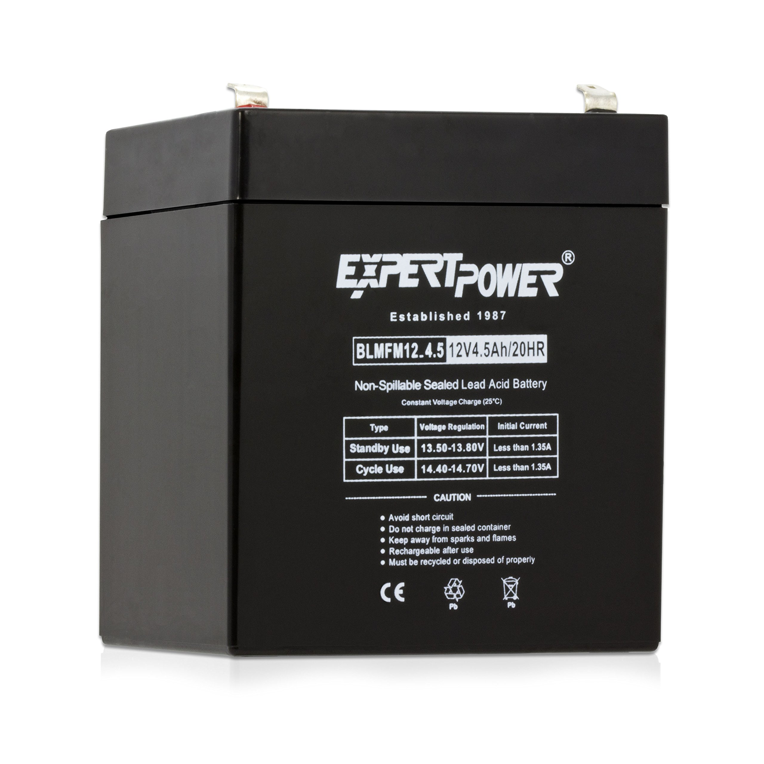 ExpertPower EXP1245 12V 4.5 Amp Rechargeable Battery for Security Systems