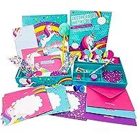 GirlZone: Unicorn Letter Writing Set for Girls, 45 Piece Stationery Set