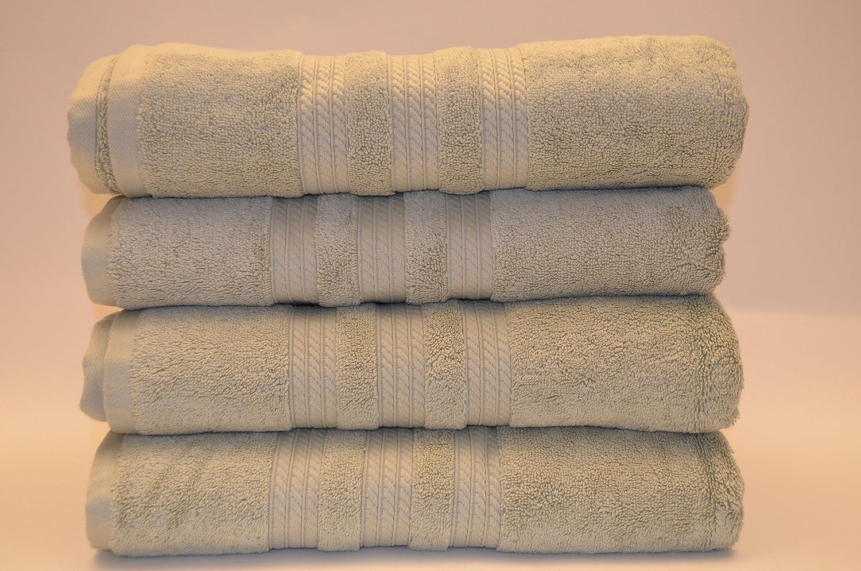 Toalla 80 x 150 cm 800 gr/m² color verde 100% algodón Egyptien en algodón peinado verde de agua: Amazon.es: Hogar