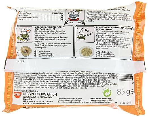 nissin top ramen ente 10er pack 10 x 85 g beutel amazon de lebensmittel getranke