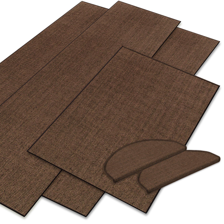 casa pura Sisal Floor Runners & Rugs, Brown | Customisable Width & Length | Matching Stair Treads Avail. (66 x 100 cm)
