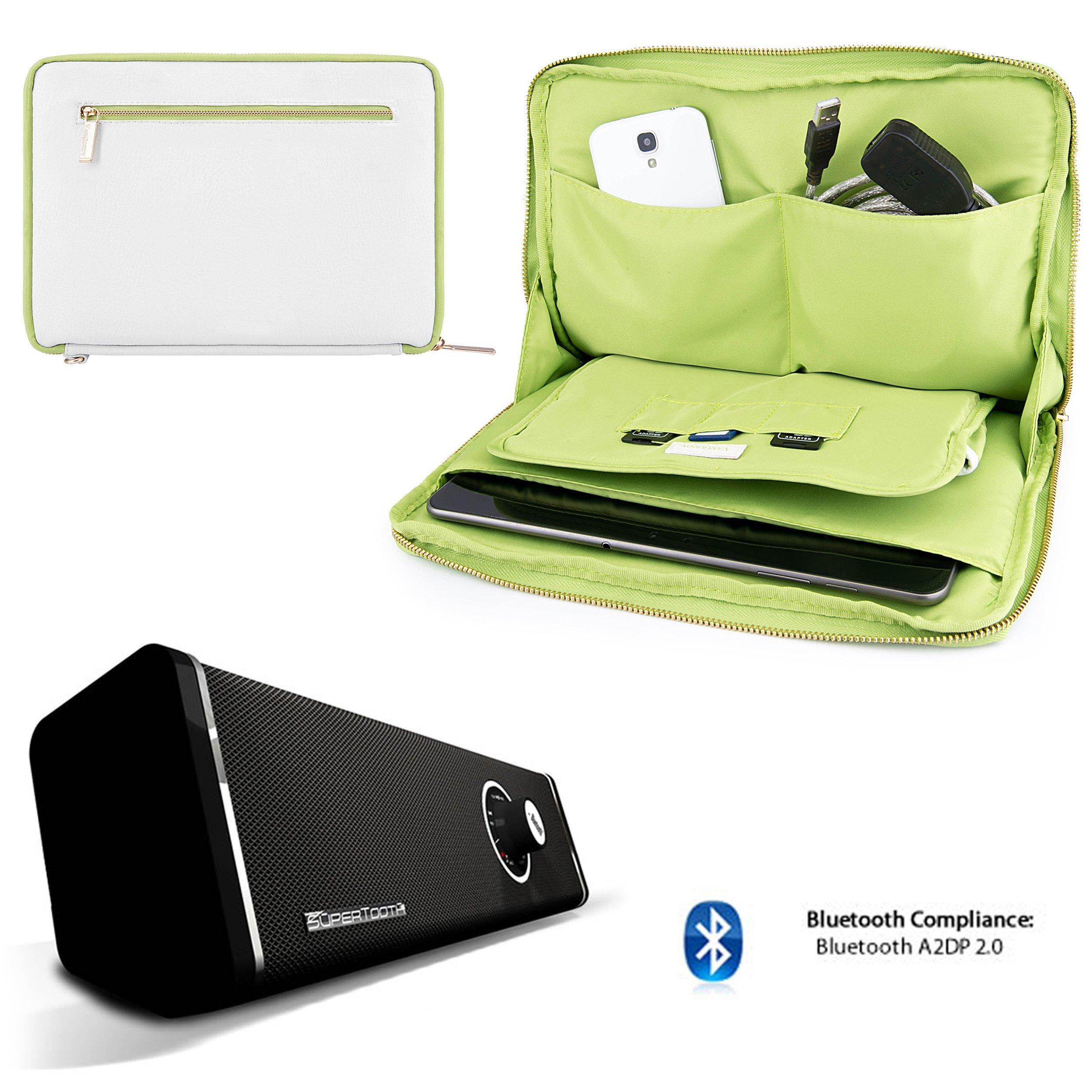 Travel Leatherette Sleeve For Samsung Galaxy Tab S 10.5 / Galaxy Tab 4 10.1 / Galaxy Tab Pro 10.1 + Bluetooth Speaker