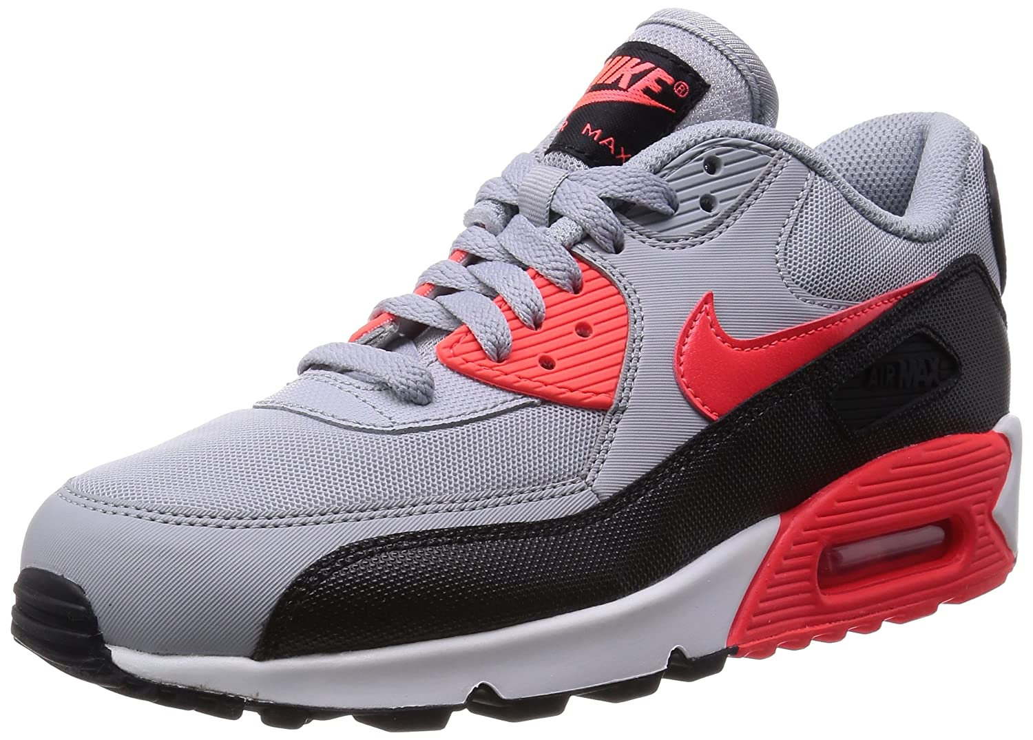 separation shoes 5c769 bf3ab Amazon.com   Nike Women s Air Max 90 Essential Wolf Grey Infrared Black White  Running Shoe 7 Women US   Road Running