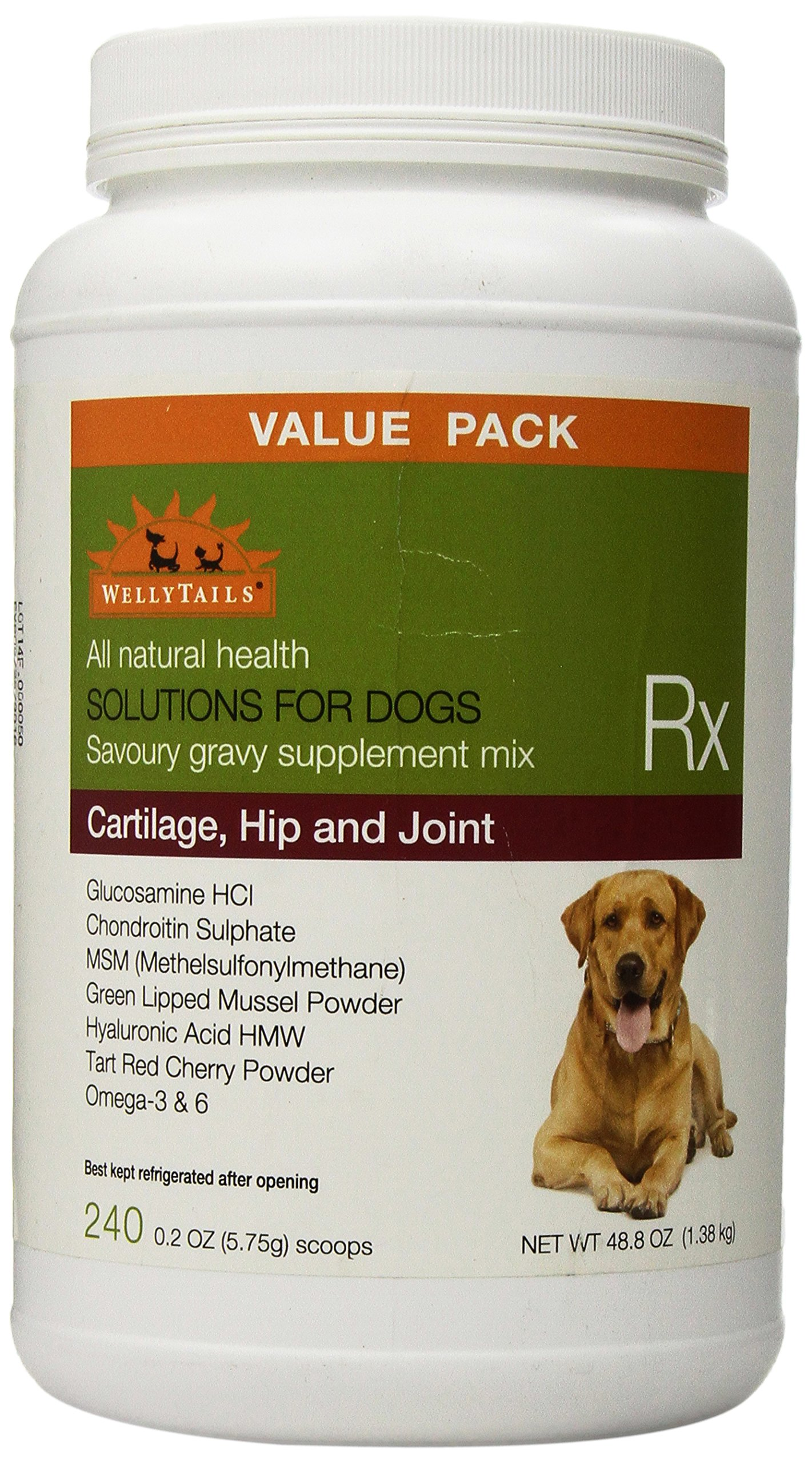 WellyTails Cartilage Hip and Joint Rx Dog Supplement for Joint, 1384gm