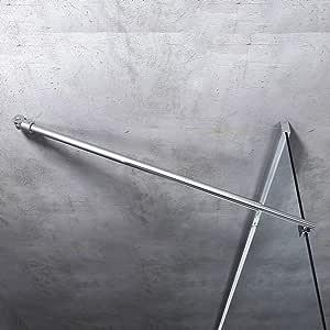 Barra de sujeción para mampara de ducha redonda con estabilizador de acero inoxidable, ajuste de 700 – 1200 mm, grosor de cristal 6 – 10 mm GS21Flex: Amazon.es: Bricolaje y herramientas