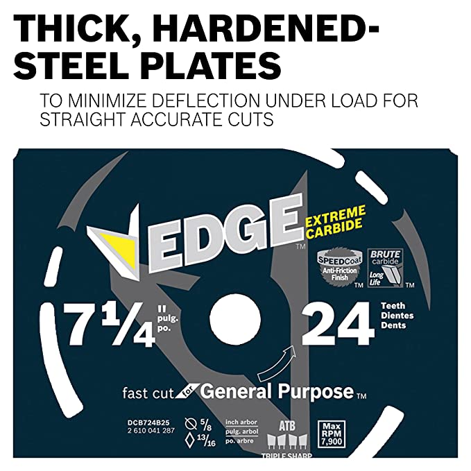 Bosch DCB624 6-1/2 In. 24 Tooth Edge Circular Saw Blade for General Purpose - - Amazon.com
