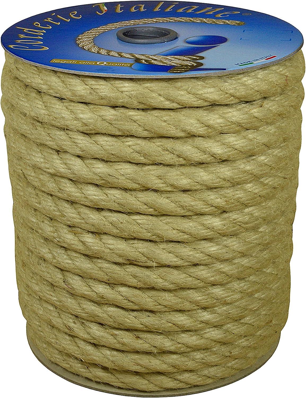 Corderie Italiane 006044062 cuerda yute, 6 mm, 100 m