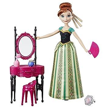 Disney Frozen C0454EL2 Anna y Coronation Vanity - Juego de muñecas