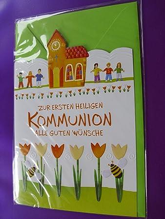 Kommunionkarte Glückwunschkarte Grusskarte Geschenkkarte