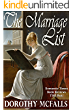 The Marriage List: full-length sweet historical romance