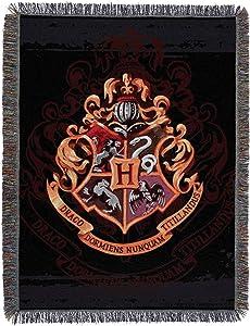 "Harry Potter, Hogwarts Décor Metallic Woven Tapestry, 48"" x 50"" Throw Blanket, 48"" x 60"""