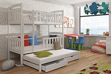 Etagenbett Unten Doppelbett : Hochbett maja jugendbett kinderbett etagenbett stockbett eiche weiß