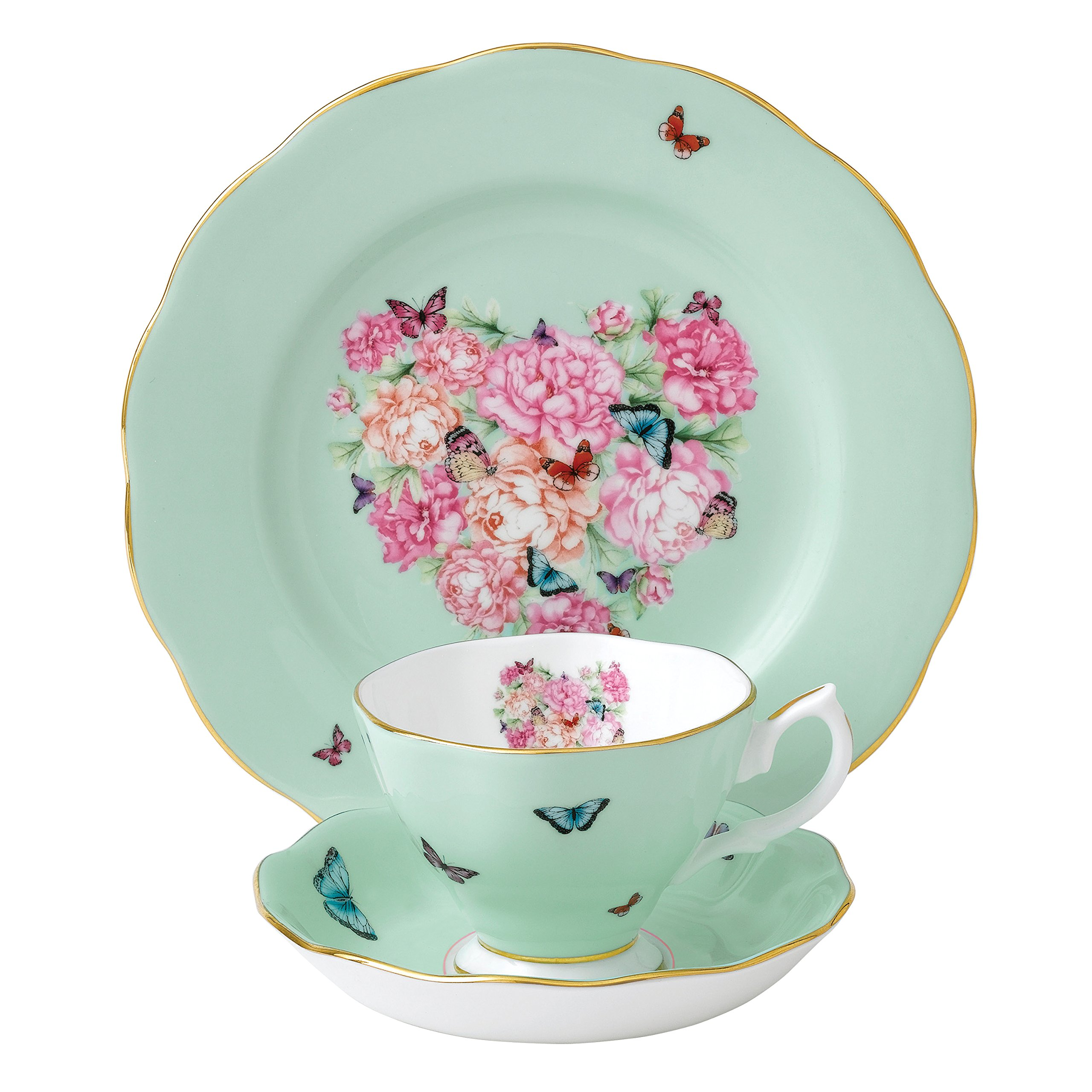 Royal Albert 40001837 Blessings 3-Piece Teacup, Saucer and Plate Set Designed by Miranda Kerr