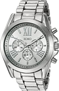 XOXO Womens Quartz Stainless Steel and Alloy Casual Watch, Color:Silver-Toned (