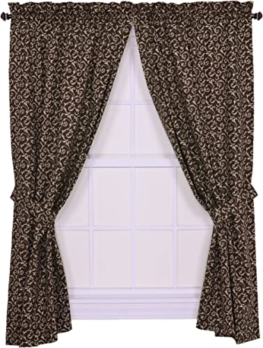 Editors' Choice: Tremblay Small Scale Scroll Tailored Panel Pair Curtains