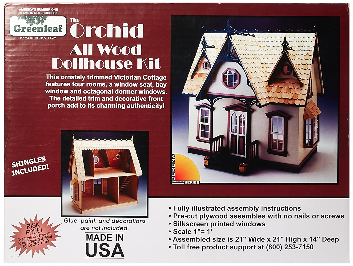 Greenleaf Corona Dollhouse Kit, Orchid (9301G) on metal shop house plans, ranch house plans, lowe's house plans, belk house plans, marriott house plans, small 3 bedrooms house plans, house floor plans, walk out basement house plans, amazon house plans, hallmark house plans, single story house plans, carter lumber house plans, secret passage house plans, do it best house plans, loft house plans, pottery barn house plans, brady house plans, simple 4 bedroom house plans, ebay house plans, ikea house plans,