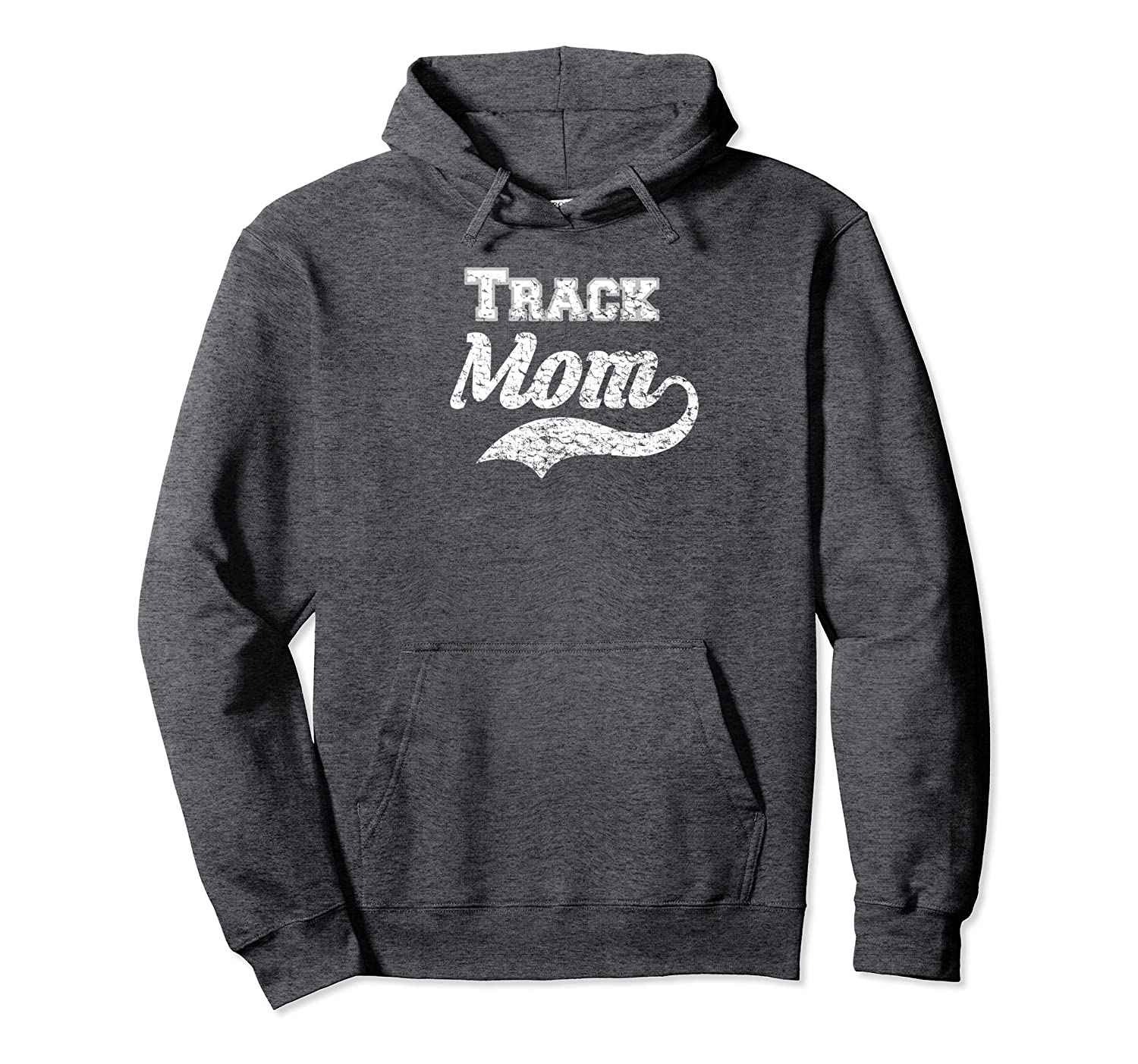Track Mom Hoodie Distressed - Mother Of The Runner-TH