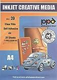 A4 Feuille transparente auto adhésive X 20 Feuilles