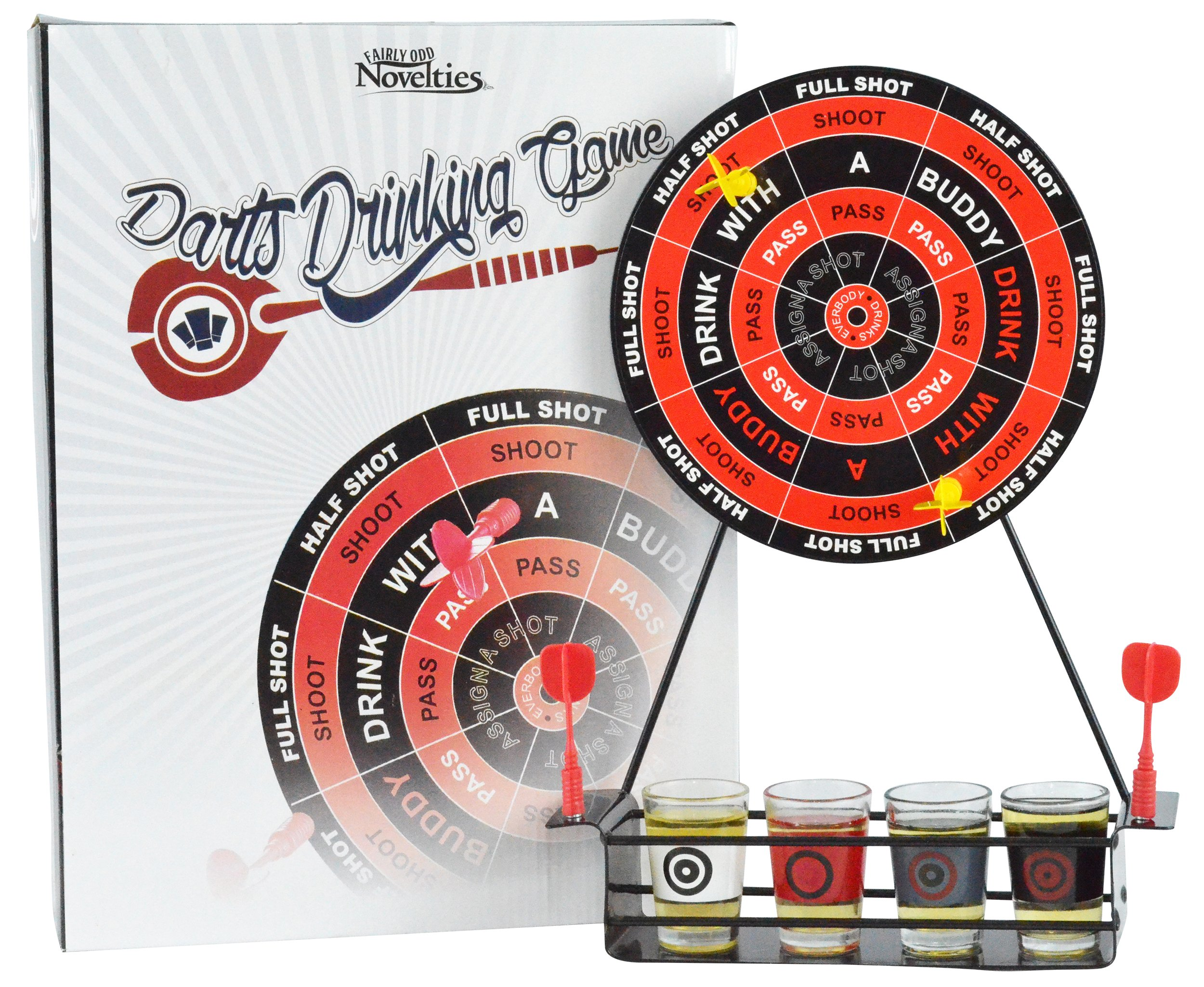 Fairly Odd Novelties Darts Shots Novelty Drinking Game, Black