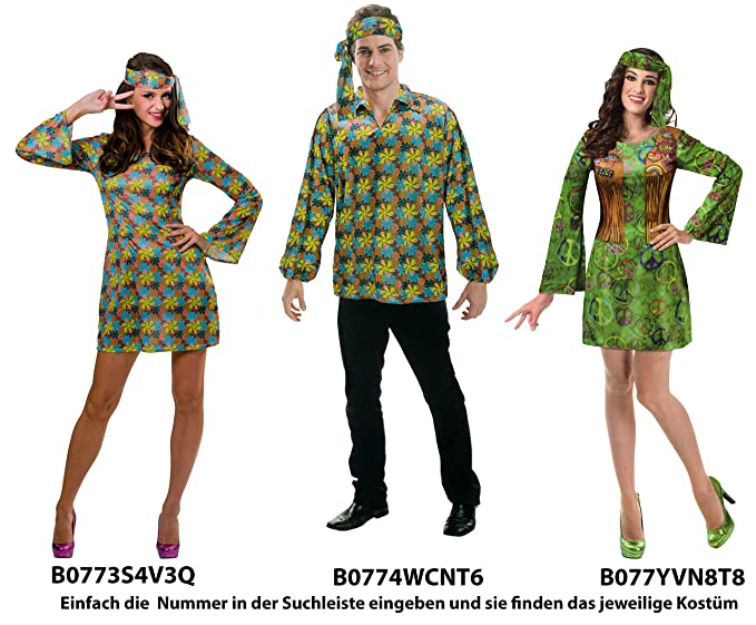 Brand sseller Disfraz para Hombre/Mujer Disfraz Fiesta de Carnaval – Hippie – Diferentes tamaños